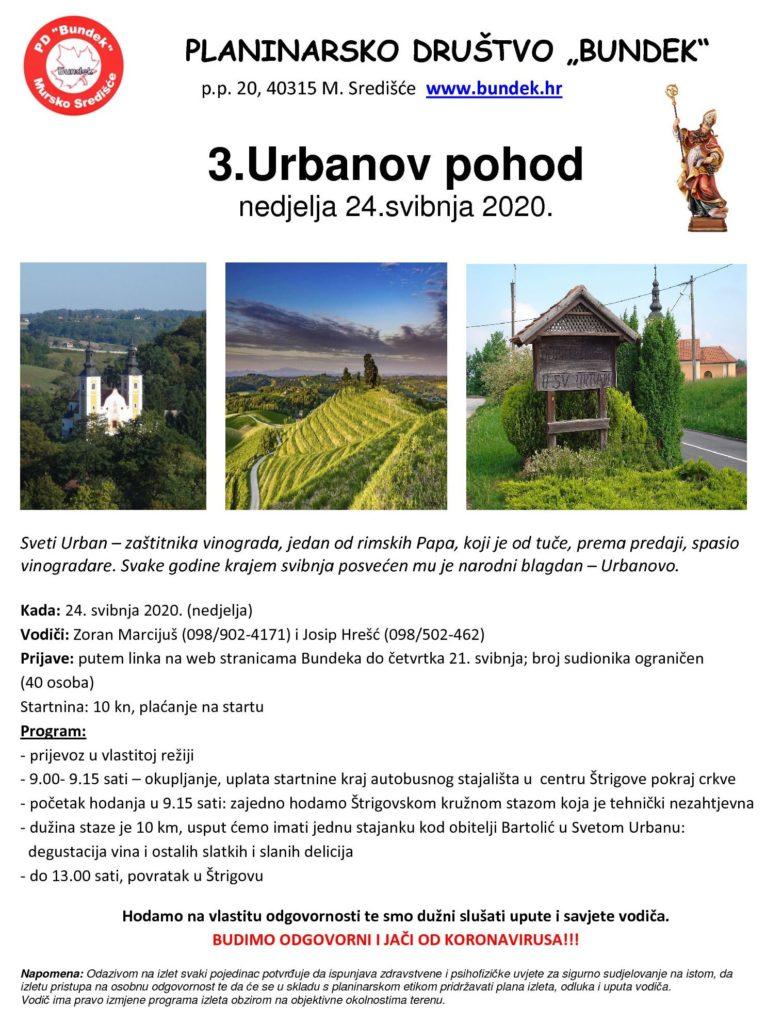 3. Urbanov pohod - plakat